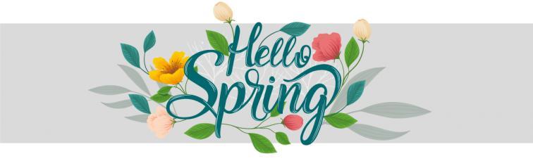 Heißen Sie den Frühling Willkommen
